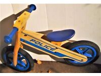 Wooden Balance Trainer Bike for Kids - a great first bike