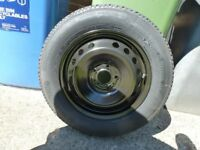 Qashqai spacesaver spare wheel and tyre