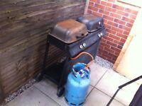 2 Burner Gas BBQ plus gas bottle