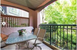balcony table set  with 6 chairs
