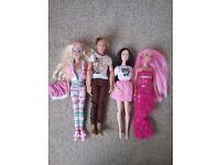 Barbie and Ken. 3 dolls plus Ken