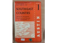South East counties touring map