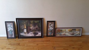 2 paintings  ( the big ones and the wall decoration ) left