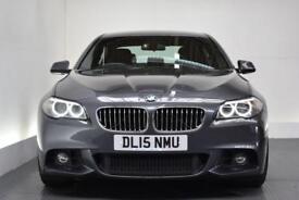 BMW 5 SERIES 2.0 520D M SPORT [SAT NAV] 4d AUTO 188 BHP (grey) 2015