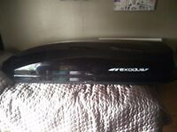Exodus 360L Roof Box with Wing Bars and Thule fitting kit
