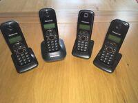 Panasonic Quad Digital Cordless Phone Set