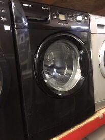 BEKO 8KG 1200 SPIN A+ BLACK WASHING MACHINE RECONDITIONED