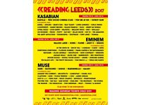 Reading Festival WEEKEND camping tickets!