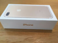 APPLE IPHONE 7 PLUS 256 GB GOLD BRAND NEW BOXED LOCKED TO TESCO/02/GIFFGAFF - CAN BE UNLOCKED