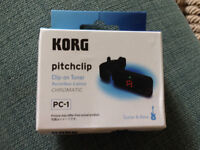 KORG Pitchclip Clip-on Chromatic Guitar Tuner
