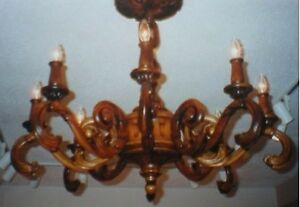 Hand Carved Baroque Chandelier - $1200