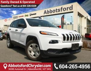 2015 Jeep Cherokee Sport Fuel Efficient, Local Vehicle