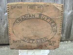 Vintage Canadian Butter Box , hard to find Wood Butter Box