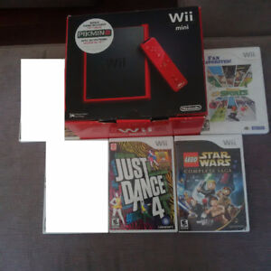 Wii mini with 3 games