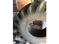 Large tractor tyre for fitness PT training