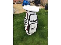 Ping leather Tour Bag