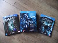 HARRY POTTER 7 DISC BLU RAY BOX SET YEARS 1-6, PLUS DEATHLY HALLOWS PARTS 1 & 2