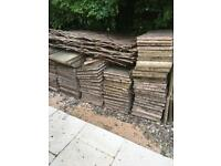 Used paving slabs. Terracotta and cream colours