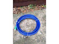 Food quality hose with adaptors