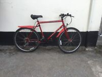 """GENTS RED MOUNTAIN BIKE 20"""" FRAME £45"""