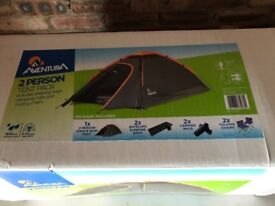 UNOPENED 2 man tent with sleeping mats, sleeping bags and chairs