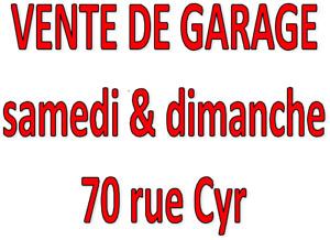 VENTE DE GARAGE --- 70 rue Cyr, Granby