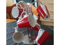 Chrome Tree mug stand with 6 mugs/cups £10