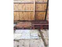 4 Wooden Pallets