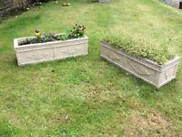 Pair of Concrete Garden Plant Pot