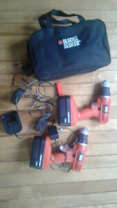 Black and Decker 18V cordless drills