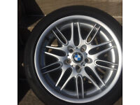 BMW e39 M5 alloy wheel with tyre