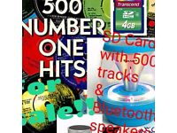 500 number one hits 1950's to 80's on 4GB SD card includes UK P&P