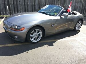2003 BMW Z4 3.0i, Auto, Leather, Convertible, Only 88,000km
