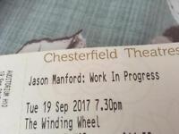 Jason manford tickets x 2