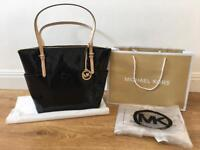 MK LADIES TOTE BAG BLACK MICHAEL KORS GUARANTEED GENUINE