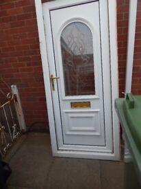 UPVC glazed external door and frame