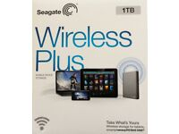 SEAGATE WIRELESS PLUS HARD DRIVE BOXED BARGAIN MUST SEE LOOK !!!!