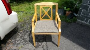 """7"" solid maple chairs"