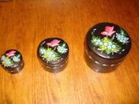 HAND PAINTED PAPER MACHE 3 in 1 POTS
