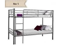 Free and fast delivery. Single metal bunk bed