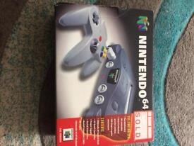 Nintendo 64 box only no console