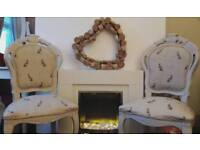 Shabby chic Louis chairs