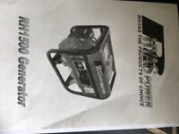 Petrol generator 1500w 24kg 95db