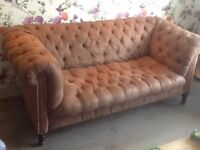 Antique Chesterfield 3 Seater Deep Buttoned Sofa