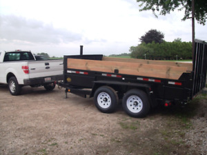 NEW Dump Trailers  6X12  5 Ton with ramps ( GREAT PRICE)