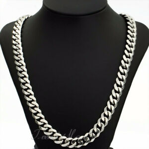 """Stainless Steel 24"""" inch -15mm Cuban Link Chain"""