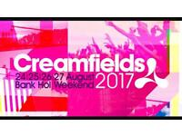 2 x Friday Saturday Sunday camping tickets for creamfields 17