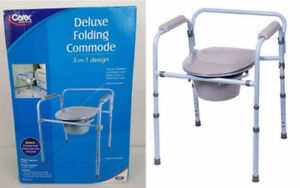 Carex 3-in-1 deluxe folding commode