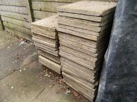 Saxon Buff paving slabs