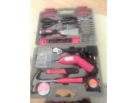 Ladies pink tool set All Complete New Unused £15